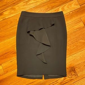 Black pencil skirt with frill